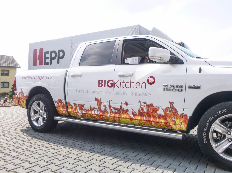 Pickup-Fahrzeugbeschriftung für BIGKitchen