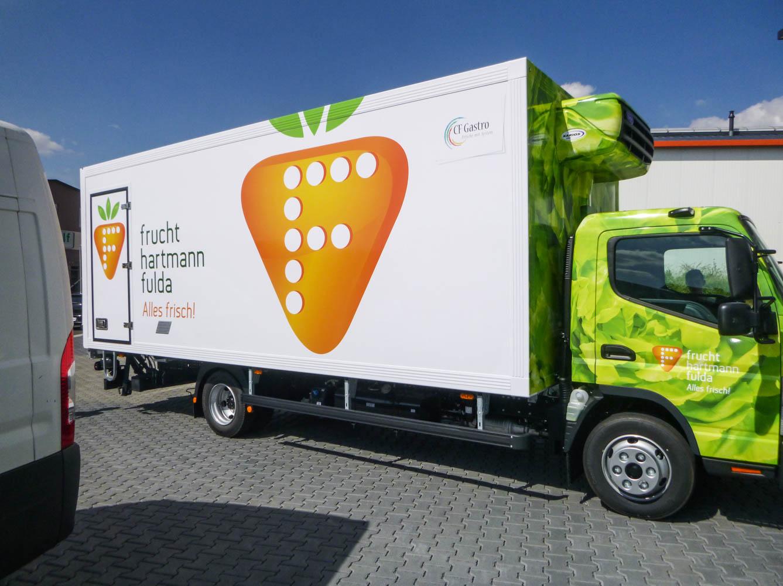 LKW Beschriftung für frucht hartmann fulda