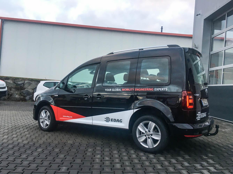Fahrzeugbeschriftung Caddy für EDAG Fulda Petersberg