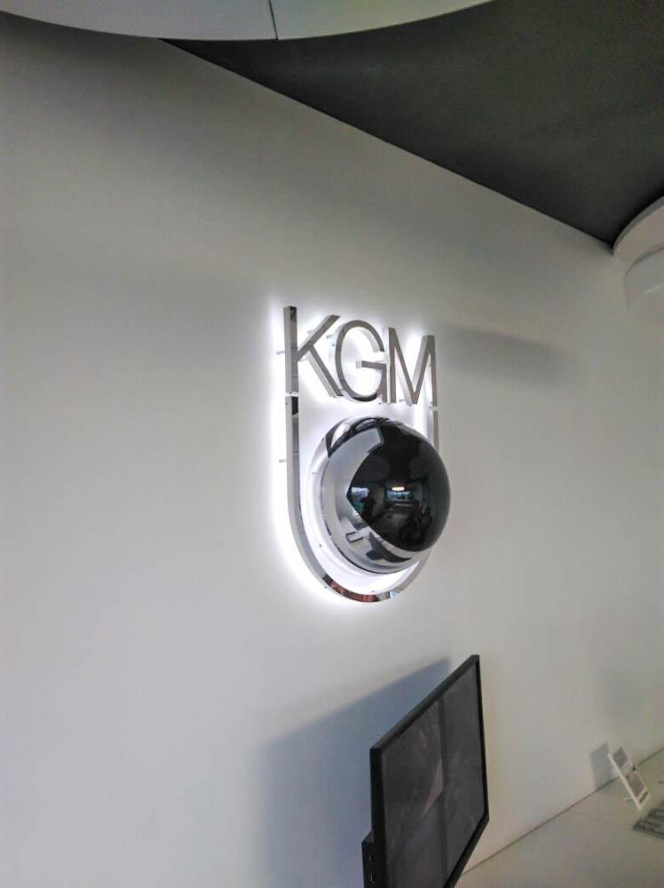 Hochwertiges Metall-Innenschild von KGM