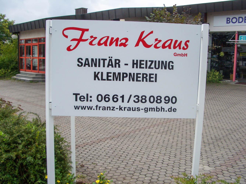 Außenwerbeschild von Franz Kraus GmbH